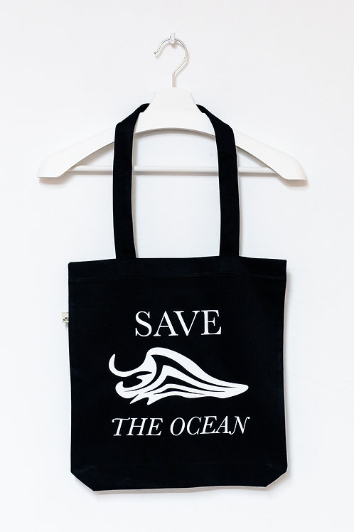 SAVE THE OCEAN 100% recycled Tasche