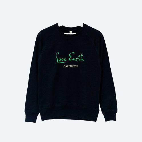 LOVE EARTH 100% recycled Sweatshirt UNISEX