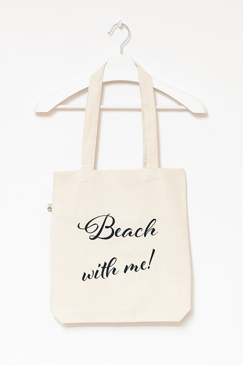BEACH WITH ME! 100% recycled Tasche