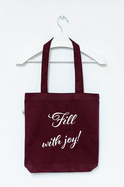 FILL WITH JOY! 100% recycled Tasche