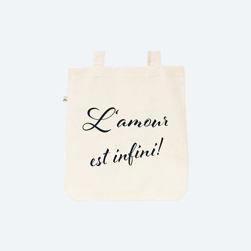 L'AMOUR EST INFINI! 100% recycled Tasche