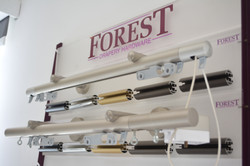 Forest line curtain tracks