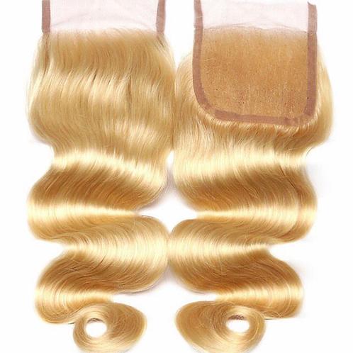Russian Blonde Body Wave Lace Closure