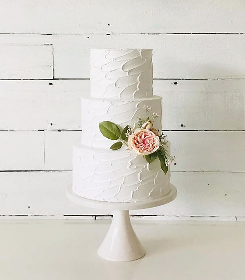 3 tier rustic finish fake cake by Simply Sweet Shop