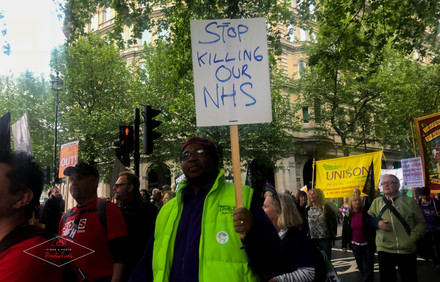 """""""Stop Killing our NHS"""""""