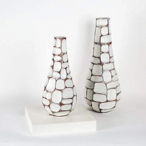 Carved Patch Resin Teardrop Vase