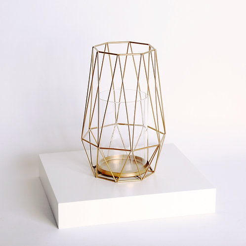 Diamond Deco Metal Candle Holder