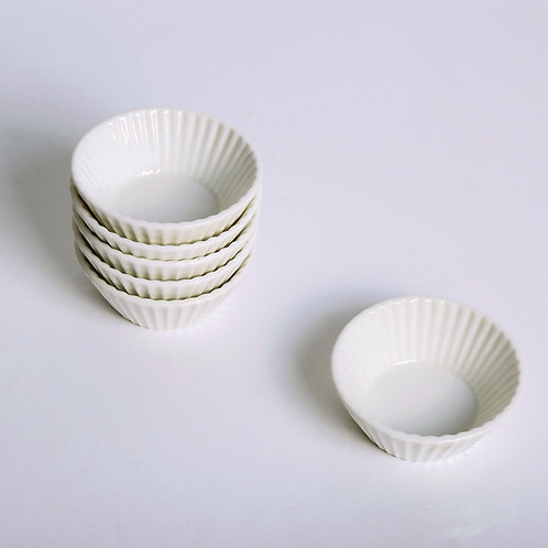 Set of Porcelain Cupcake