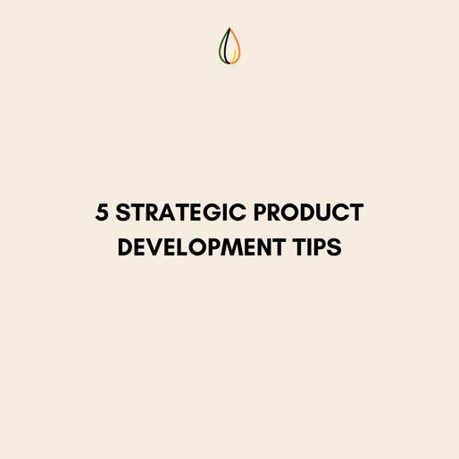 5 Strategic Product Development Tips