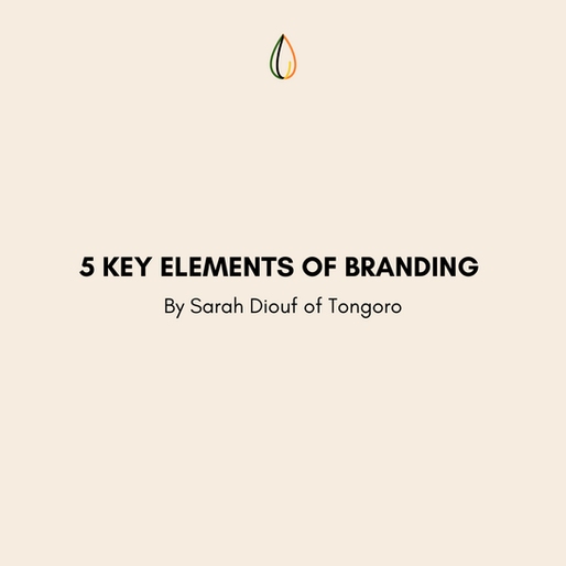 5 Key Elements of Branding by Sarah Diouf