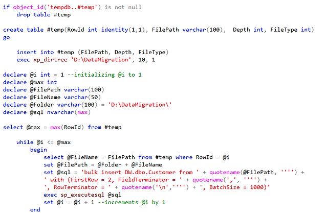 Temp Table in SQL Server 10