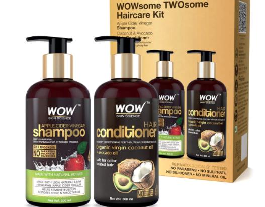 Apple Cider Vinegar Shampoo and Organic Virgin Coconut oil