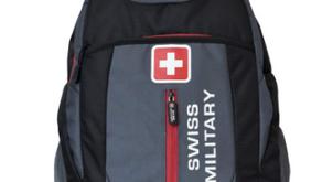 Swiss Military Grey and Black Laptop Bag