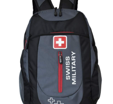 Swiss Military Grey and Black Laptop Bag