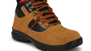 Timber wood Genuine Leather Steel Toe Safety Shoe