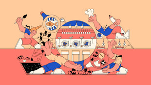 As a salt / How to make marketing for gastro, editorial illustration, 2020