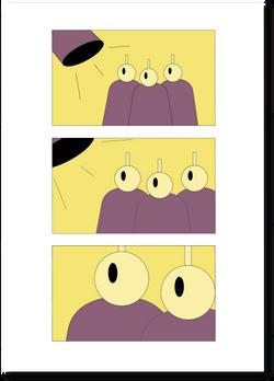Comic strip. Strangers