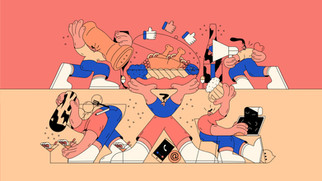 As a salt / Teamwork between designers and marketers, editorial illustration, 2020