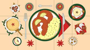 Xmas dinner, Hyper and Hyper, editorial illustration, 2020