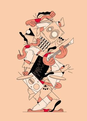 MUSIC, illustration for Lustr festival 2019 in Prague