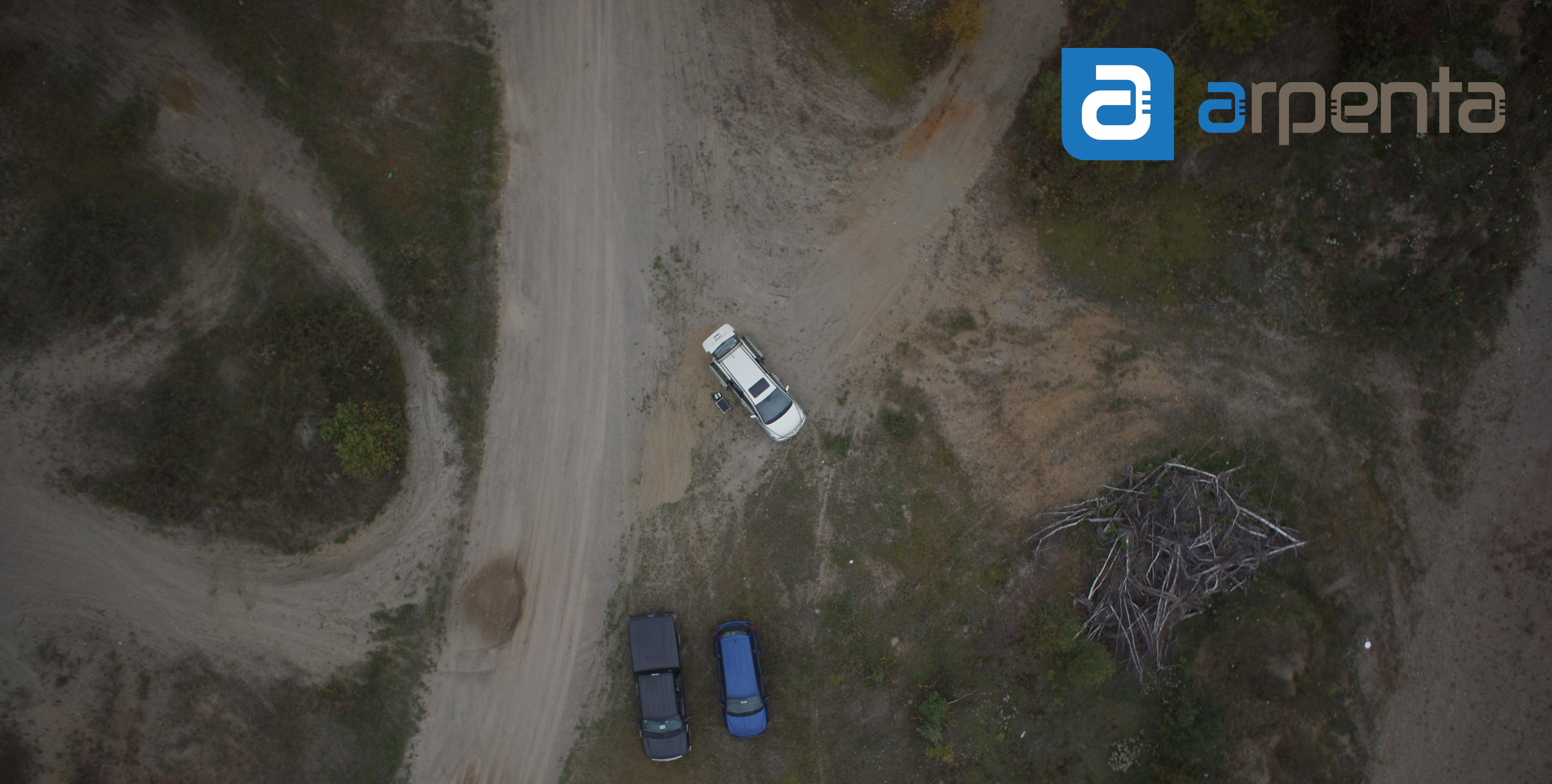 Levé aérien par drone