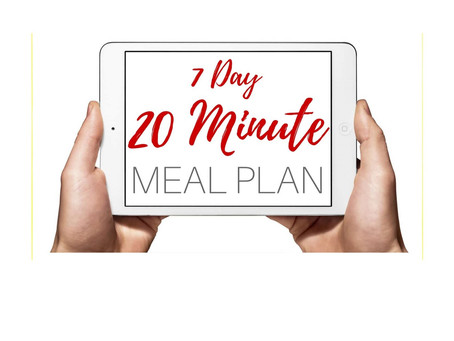 How to Make a Better You – Take the 20-Minute Meal Challenge