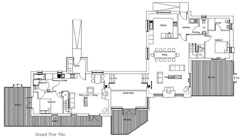 Plan of the two houses
