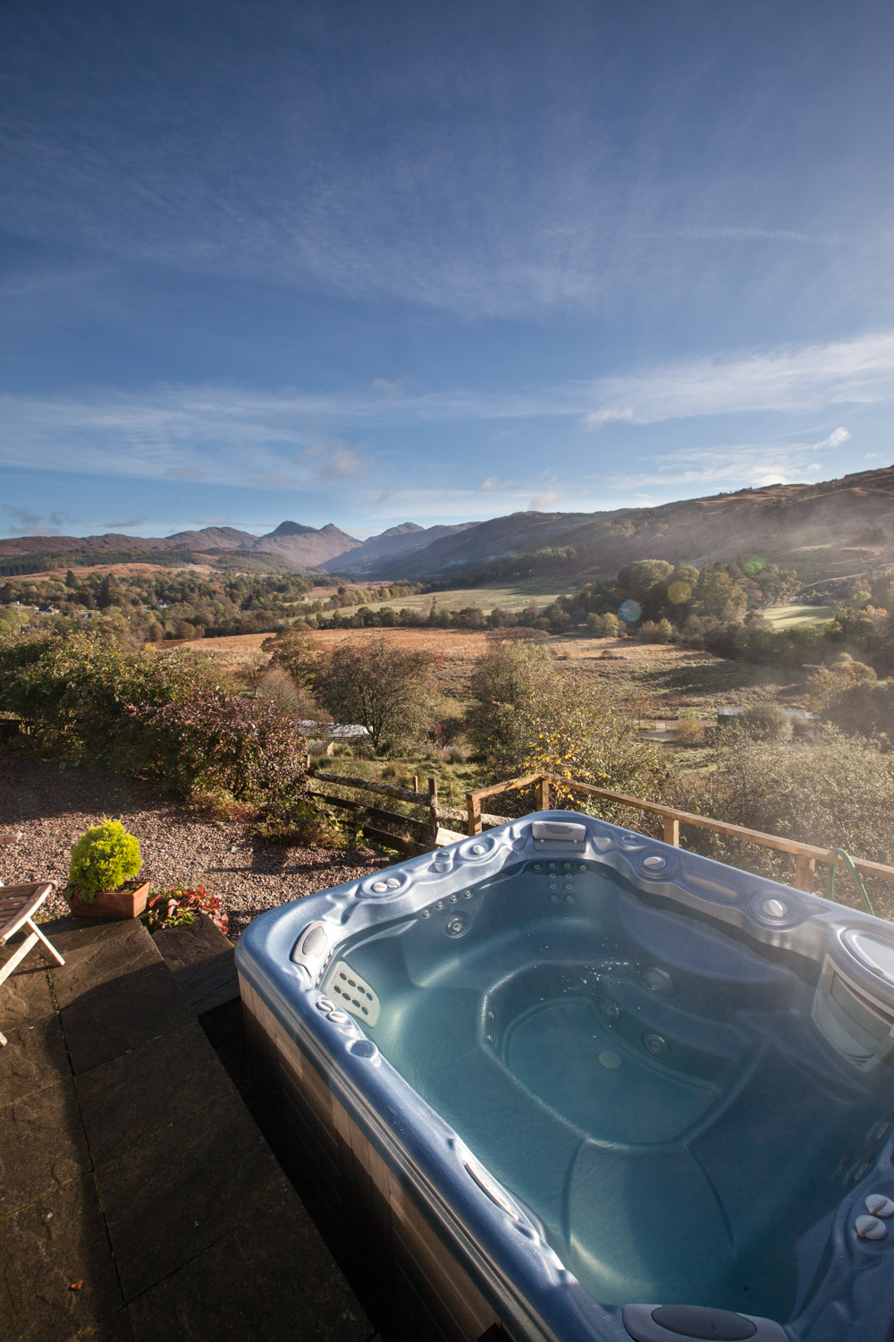 Hot-Tub at Bluebell Croft
