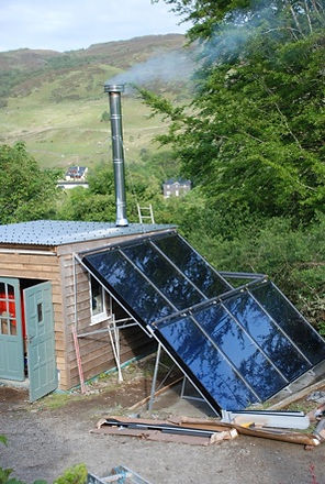 Biomass Boiler and Solar panels