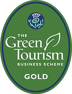 The logo of the green Tourism Scheme to which we are a member and gold certificate holder.