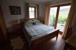 The downstairs bedroom