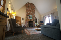 The cottage is very cosy with a log burning stove