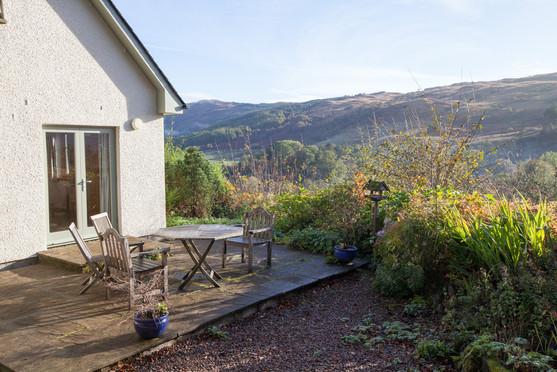 Rose Cottage Patio Area.