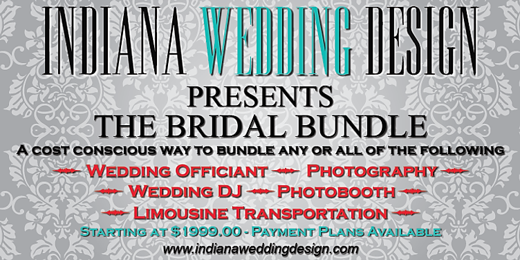 Wedding Officiant, Photography, Wedding DJ, Photobooth, Limousine Transportation, Day of Ceremony Coordination