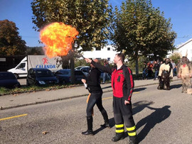 Mit der Feuerwehr Schöftland im Einsatz