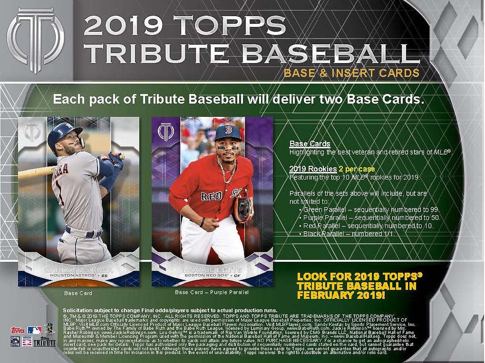 2019 Topps Tribute Case Pyt2 Gargoylecardbreaks