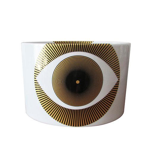 Vaso Decorado Oval Olho Baixo