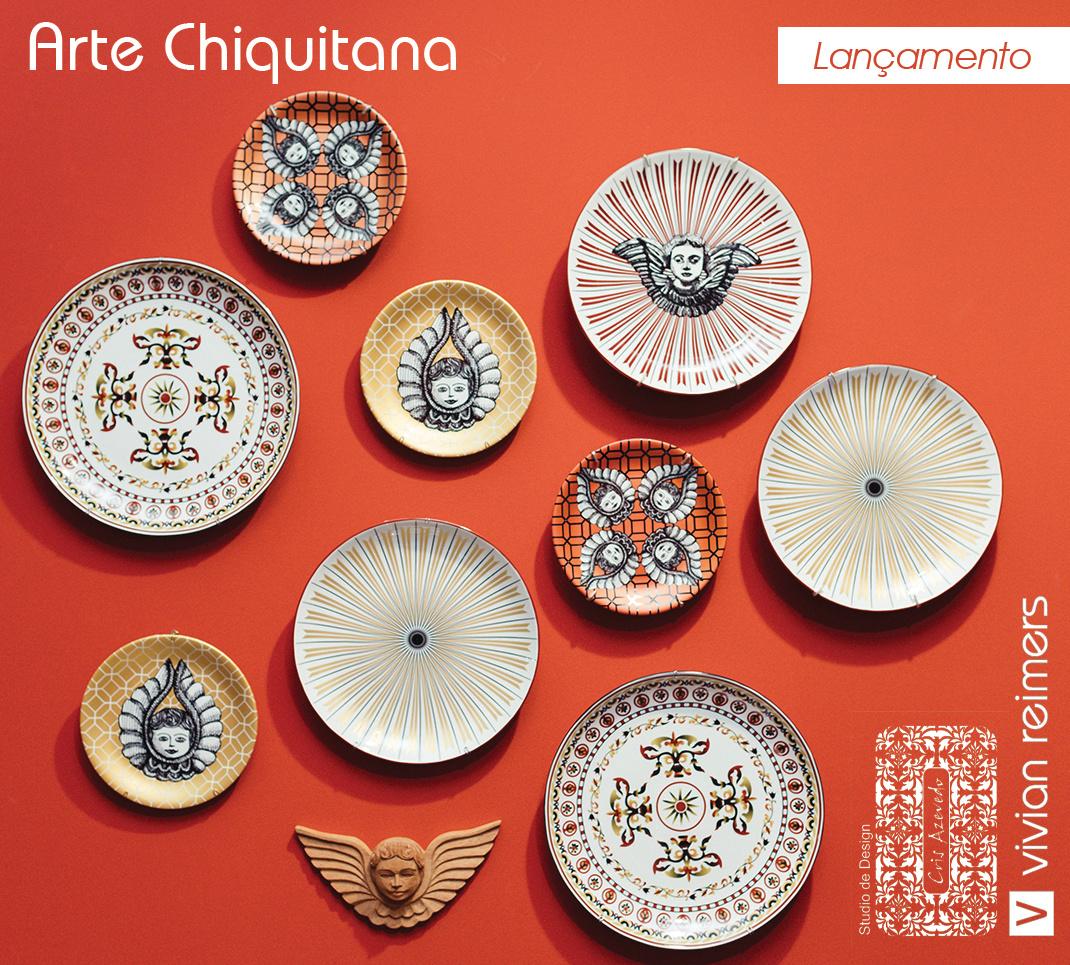 Pratos Decorativos Arte Chiquitana