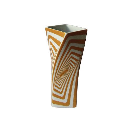 Vaso Cubo Quadrado Gold Pequeno
