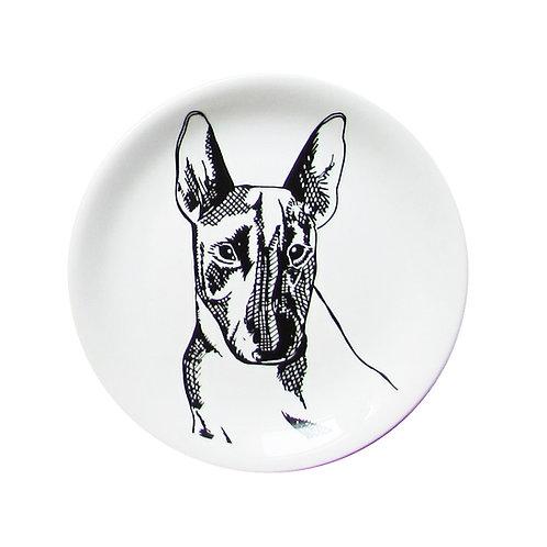 Prato Decorado Bull Terrier