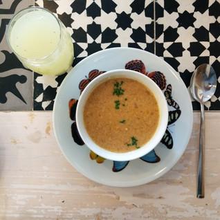 Sopa de Grão-de-Bico, porque esfriou!