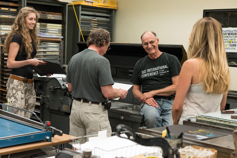 Collaboration at Pyracantha Press.