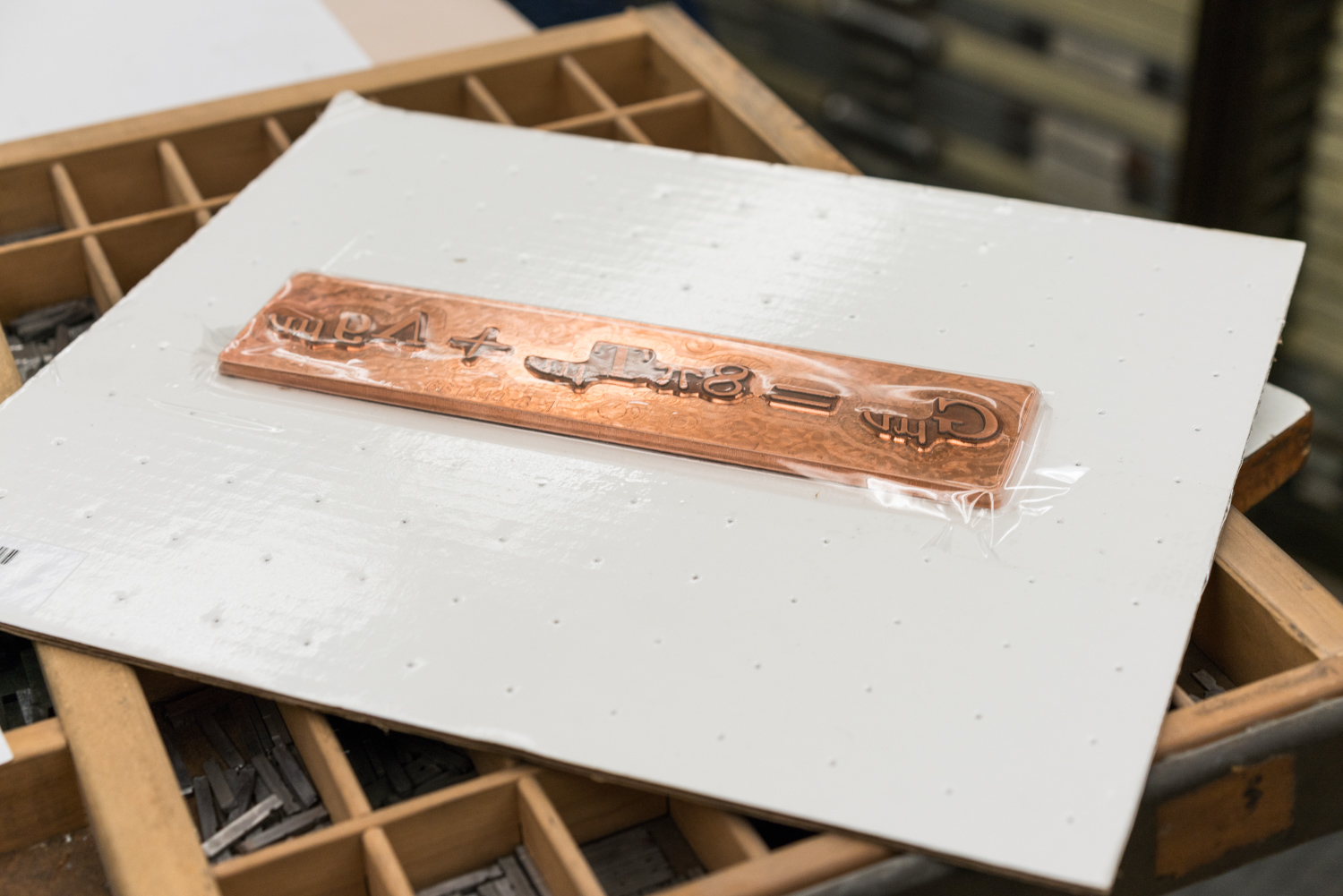 Foil stamping plate.