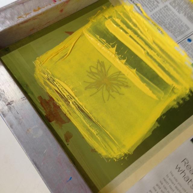Screen printing process.