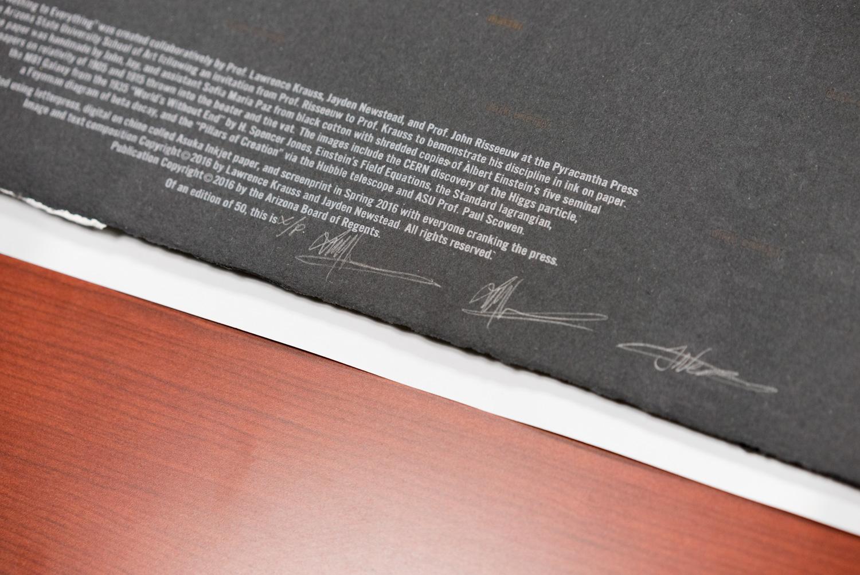 Print signing.