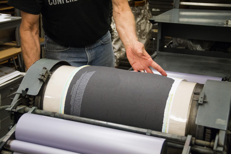 Vandercook printing.