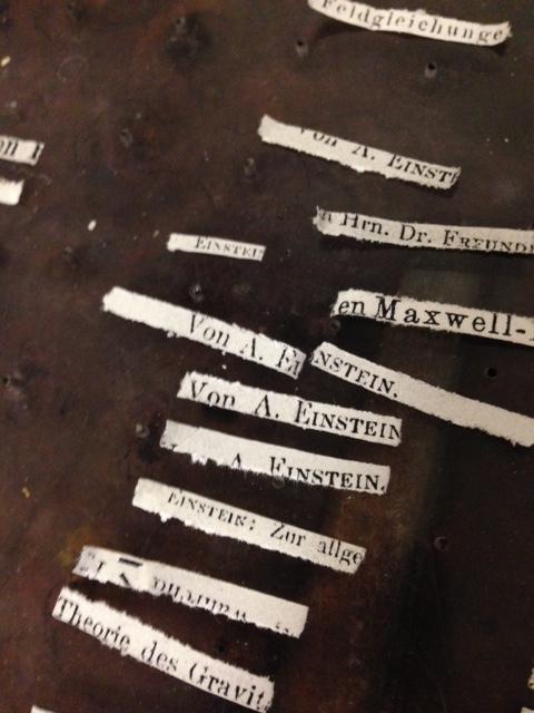 Einstein's essays in shreds