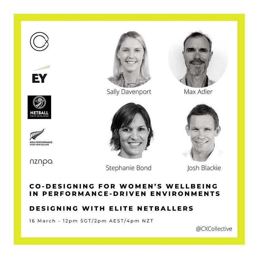 Co-designing for women's wellbeing in performance-driven environments – designing with elite netballers