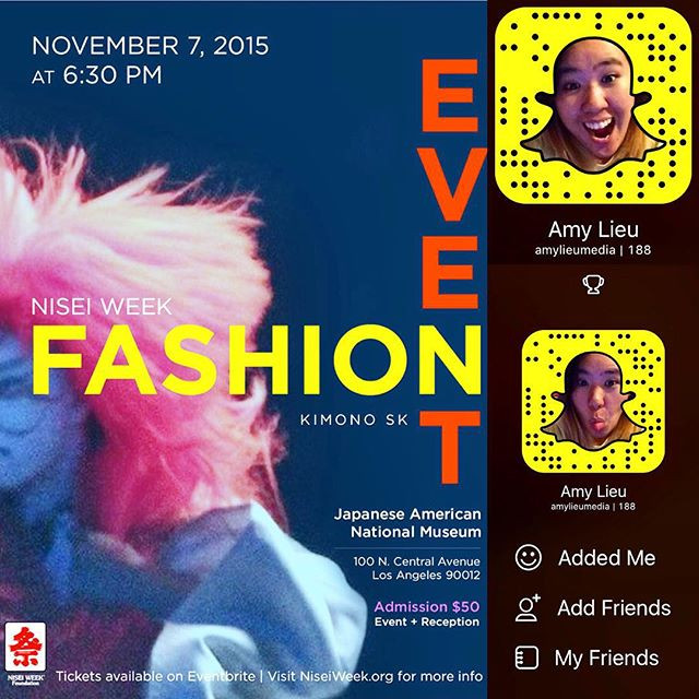 I'm doing a LIVE Snapchat story on the Nisei Week Fashion Event!