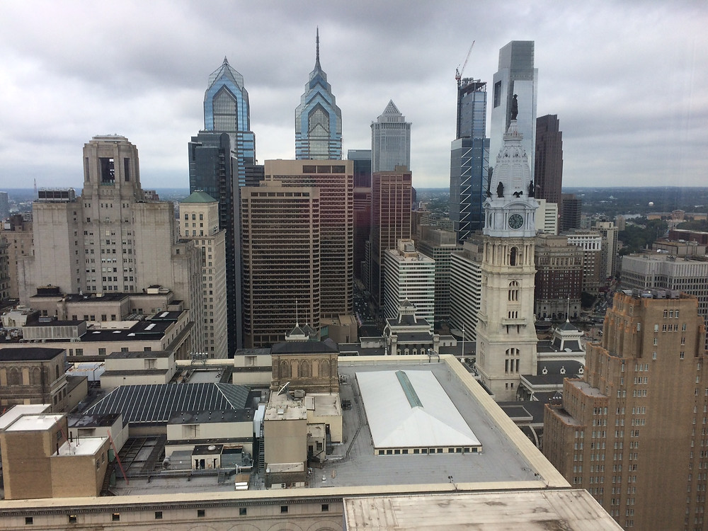 This is an incredible view from the 31st floor of my room at the Loews Hotel in Philadelphia!